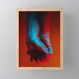 Red Hot Hands 4 of 4 - Modern Photography Framed Mini Art Print