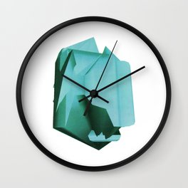 3D turquoise flying object  Wall Clock