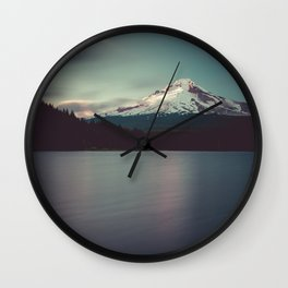 Sunset at Trillium Lake Wall Clock