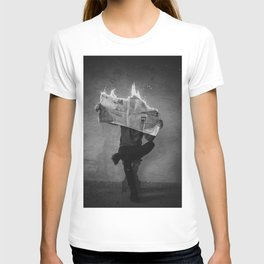 News on Fire (Baclk and White) T-shirt
