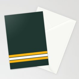 Green bay graphic Stationery Cards