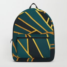 Art Deco Sunset In Teal Backpack