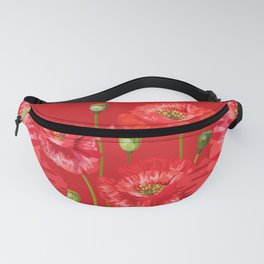 Red Poppies Bask in the Warmth Fanny Pack