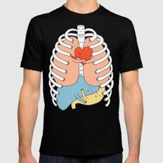 Hugs Keep Us Alive 2 Black MEDIUM Mens Fitted Tee