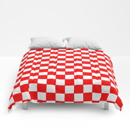 Checkers - Red and White Comforters