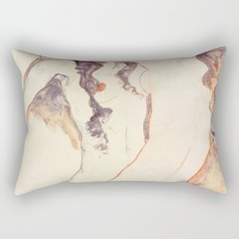 Egon Schiele Two Women Embracing Rectangular Pillow