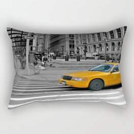 NYC - Yellow Cabs - Trinity Place Rectangular Pillow