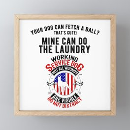 United States Service Dog For The Disabled And The Blind Framed Mini Art Print