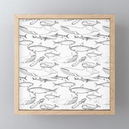 The deep Sea- Whale-Shark,Fish- Ocean Animals Framed Mini Art Print