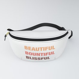 Daily mantra in coral orange 3 Fanny Pack