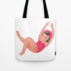 Hairy Bather Tote Bag