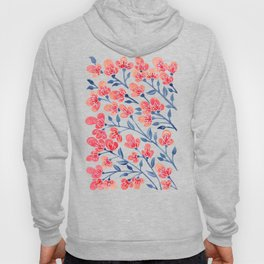 Cherry Blossoms – Melon & Navy Palette Hoody