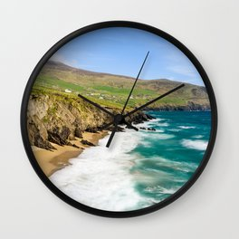 Slea Head Beach   Ireland (RR 226) Wall Clock