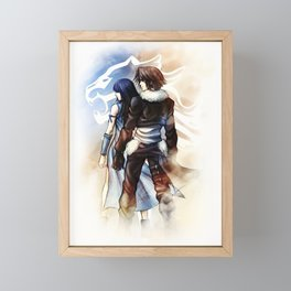 Squall and Rinoa - Griever Framed Mini Art Print
