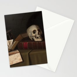 """Memento Mori, """"To This Favour"""" by William Michael Harnett Stationery Cards"""