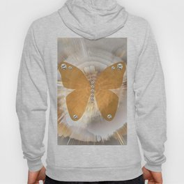 Golden Butterfly with Diamonds Hoody