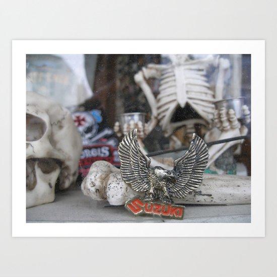 Skeleton Wares Art Print