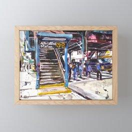 Astoria Boulevard Station, Queens Framed Mini Art Print
