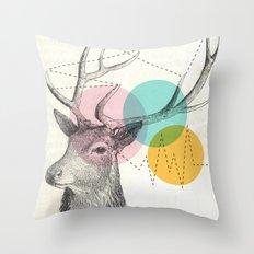 stitch doe Throw Pillow