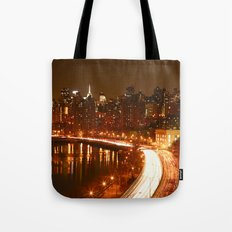 New York City Night Skyline. Tote Bag