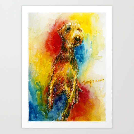 Fancy Dog Art Print