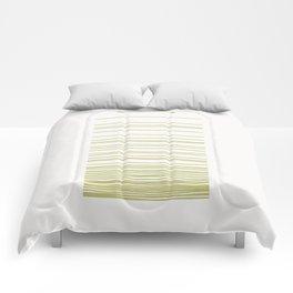 Linear Gradation - Lime Comforters