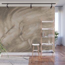 Pantone Hazelnut Flowing Pearlescent Haze, Opalescent Fluid Art Wall Mural