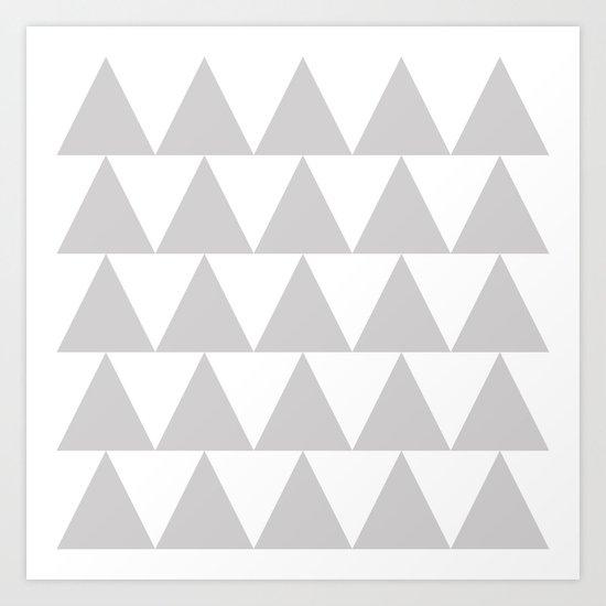 Grey Triangle /// www.pencilmeinstationery.com Art Print