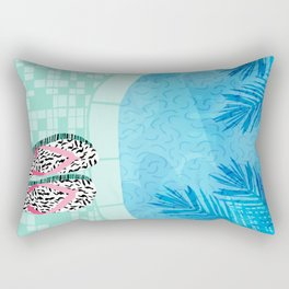 Go Time - resort palm springs poolside oasis swimming athlete vacation topical island summer fun Rectangular Pillow
