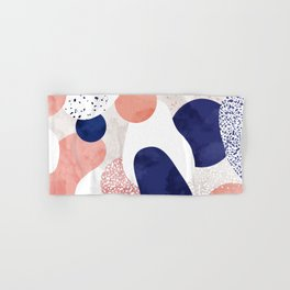 Terrazzo galaxy pink blue white Hand & Bath Towel