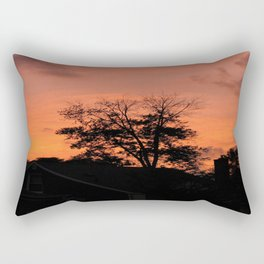 Treee on Fire Rectangular Pillow
