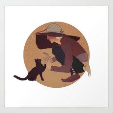 cole cat Art Print