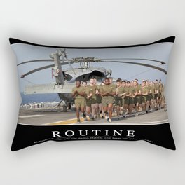 Routine: Inspirational Quote and Motivational Poster Rectangular Pillow