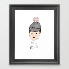 Moshi Moshi - White and Pink Framed Art Print