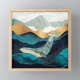 Blue Whale Framed Mini Art Print