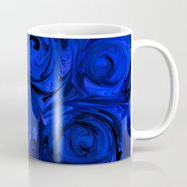 China Blue Rose Abstract Coffee Mug