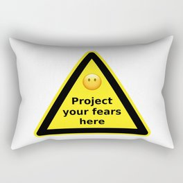 Project your fears here - danger road sign T-shirt Rectangular Pillow