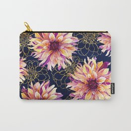 Midnight Dahlias Carry-All Pouch