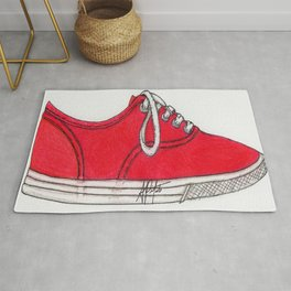 Red Shoe. Rug