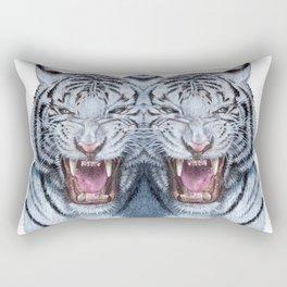 Double White tiger Rectangular Pillow
