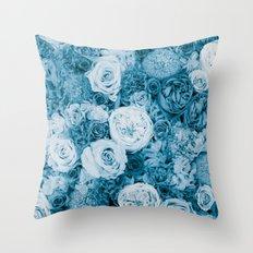 Bouquet ver.bluegreen Throw Pillow