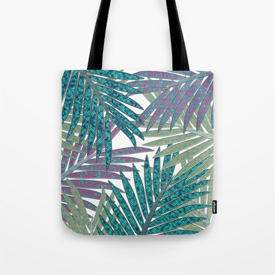 TROPICAL LEAVES GARDEN W Tote Bag