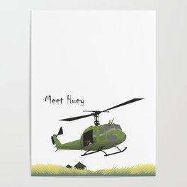 Huey Helicopter in Vietnam Poster