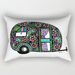 Happy Camper in Color Rectangular Pillow