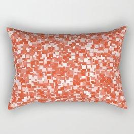 Tangerine Tango Pixels Rectangular Pillow