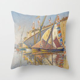 Tartans With Flags Throw Pillow