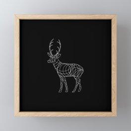 Geo Reindeer Framed Mini Art Print