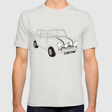 The Italian Job Red Mini Cooper Silver Mens Fitted Tee LARGE