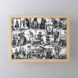 Tarot cards pattern Framed Mini Art Print