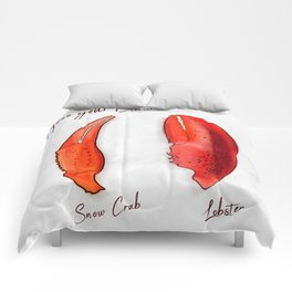 Chose your Claw, Crab vs Lobster Comforters
